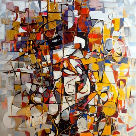 Abstract painting by Paul Ygartua - Life Changes