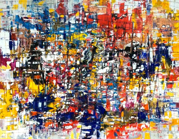 Abstract painting by Paul Ygartua - Cutthroat