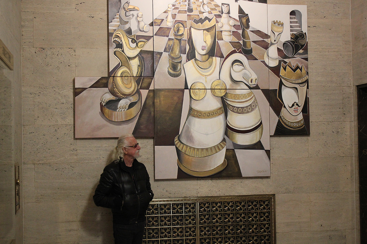 Checkmate - Cubist painting in RBC Bank